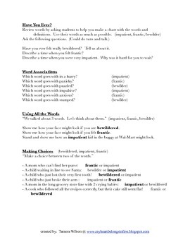 The Wild Christmas Reindeer, by Jan Brett: Vocabulary Activities