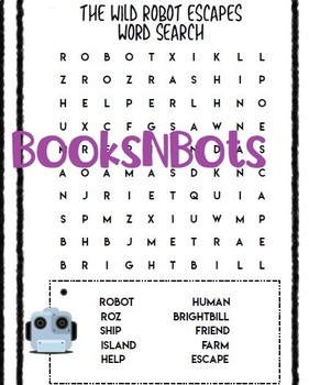 The Wild Robot Escapes Word Find