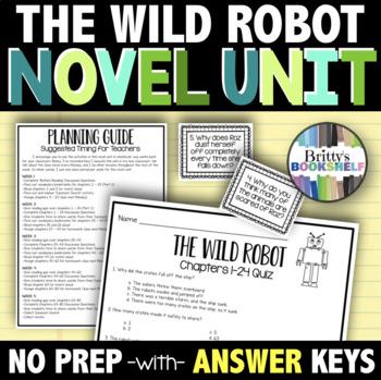 The Wild Robot Novel Study - A Complete Literature Unit