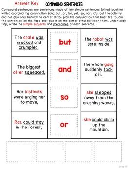 The Wild Robot Mentor Sentences & Interactive Activities Mini-Unit (3-5)