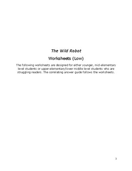 The Wild Robot Novel Unit