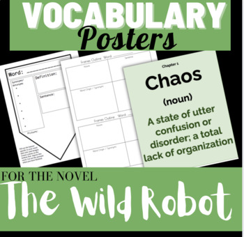 The Wild Robot Read Aloud Vocabulary Posters