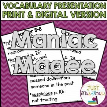 Maniac Magee Vocabulary Presentation
