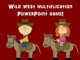 The Wild West Multiplication PowerPoint Game