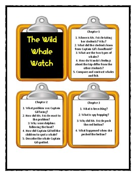 The Magic School Bus THE WILD WHALE WATCH -Discussion Cards
