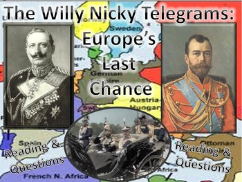 The Willy Nicky Telegrams: Europe's Last Chance Reading &