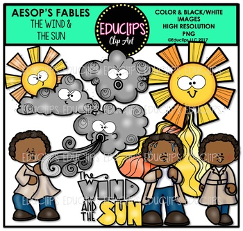 The Wind And The Sun Clip Art Bundle {Educlips Clipart}