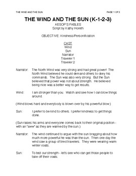 The Wind and the Sun (k-1-2-3)