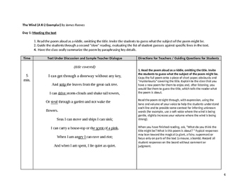 """The Wind"" by James Reeves Lesson Plan"