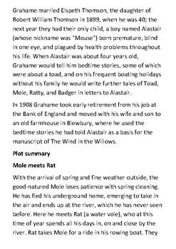 The Wind in the Willows Handout