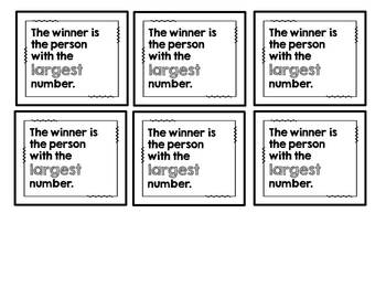 The Winner Is...A Place Value Game