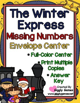 The Winter Express Missing Numbers Envelope Center