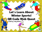 Web Quest: Winter Sports | QR Codes Task Cards Literacy Ce