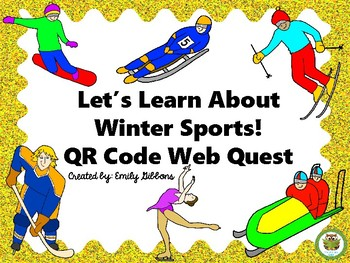 Winter Sports QR Code Task Cards