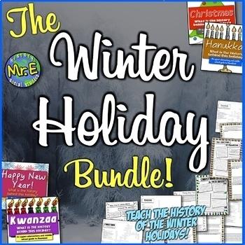 Winter Holiday Bundle: Christmas, Hanukkah, Kwanzaa, & the