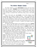 The Winter Olympic Games Reading Comprehension and Vocabul