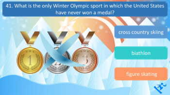 The Winter Olympics PyeongChang 2018 Interactive PowerPoint Quiz - 40 Questions