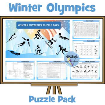 The Winter Olympics PyeongChang 2018 - Puzzle Pack - Differentiated Puzzles