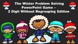 The Winter Problem Solving PowerPoint Game - 2 Digit Without Regrouping Edition