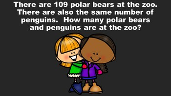 The Winter Problem Solving PowerPoint Game - Three Digit Edition