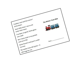 The Winter Train Ride - a printable book