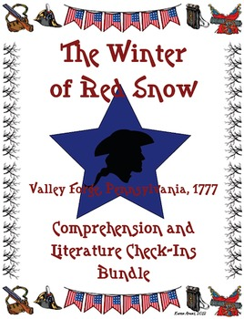 The Winter of Red Snow Comprehension and Literature Check-Ins Bundle