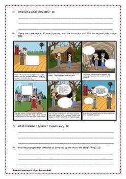 The Wise Old Woman by Yoshiko Uchida - Revision Worksheet