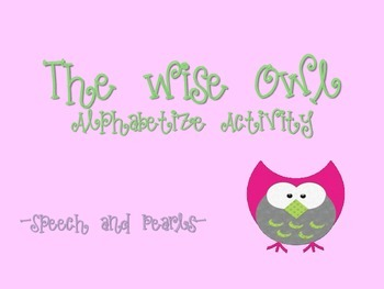 The Wise Owl-Alphabetize