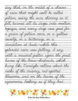 The Wise Woman by George MacDonald-Cursive Copywork and Handwriting Practice