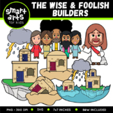 The Wise and Foolish Builders Clip Art