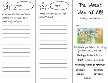 The Wisest Wish of All Trifold - 3rd Grade Literacy by Design Theme 10