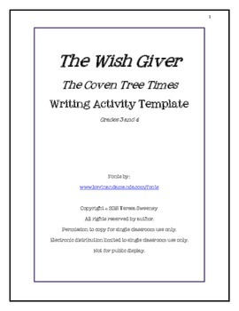 The Wish Giver:  Coven Tree Times Writing Activity Template