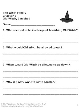 The Witch Family Book Unit Distance Learning School or At Home