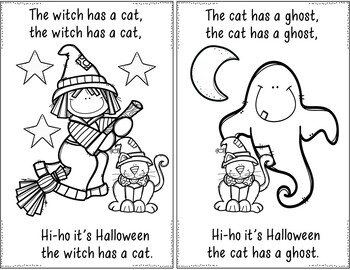 The Witch (Halloween Pocket Chart and Book Making Activity)