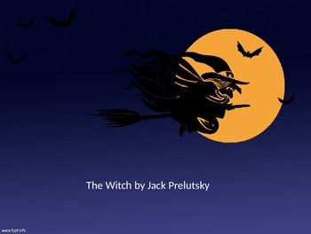 Halloween poetry The Witch by Jack Prelutsky - Analysis