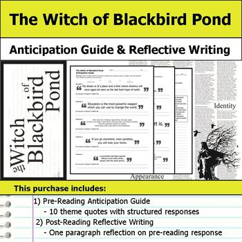 The Witch of Blackbird Pond - Anticipation Guide & Reflection