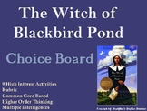 The Witch of Blackbird Pond Choice Board Choice Board Nove