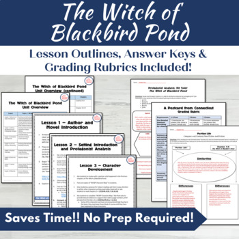 The Witch of Blackbird Pond Complete Unit