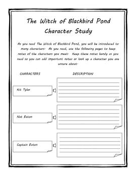 The Witch of Blackbird Pond Literature Unit