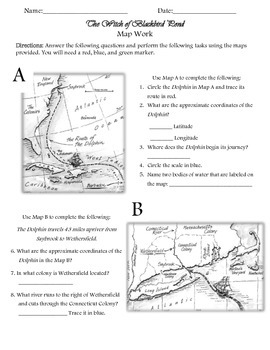 The Witch of Blackbird Pond Map Activity