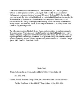 The Witch of Blackbird Pond Resource Guide (Grades 6-8)
