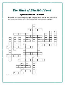 The Witch of Blackbird Pond: Synonym/Antonym Vocab Xword--Fun!