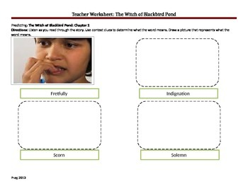 The Witch of Blackbird Pond Teacher Worksheets
