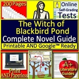 The Witch of Blackbird Pond Novel Study Unit Print AND Paperless Google Ready