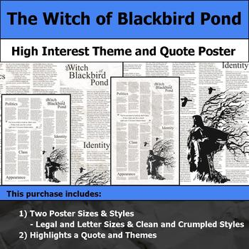 The Witch of Blackbird Pond - Visual Theme and Quote Poster for Bulletin Boards