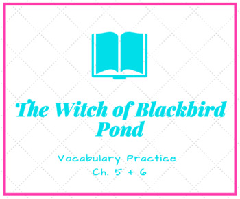 The Witch of Blackbird Pond Vocabulary Activity Ch. 5 + 6