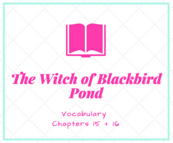 The Witch of Blackbird Pond Vocabulary PowerPoint Ch. 15 + 16