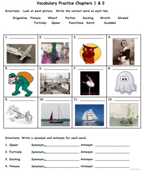 The Witch of Blackbird Pond Vocabulary Practice Ch. 1 + 2