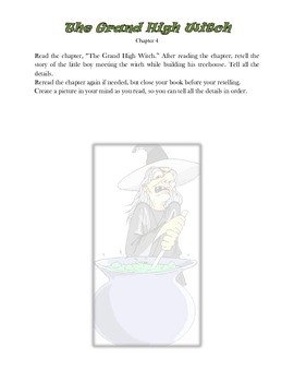 Witches, a 16 page common core novel study