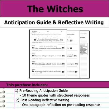 The Witches - Anticipation Guide & Reflection Writing